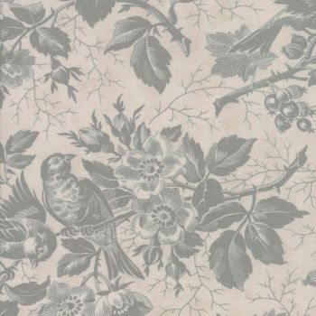 Moda Fabrics ~ Quill ~ Bird Toile Parchment Mint