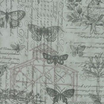 Moda Fabrics ~ Quill ~ Botanical Sketchbook Mist