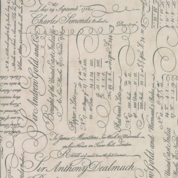 Moda Fabrics ~ Quill ~ Script Ledger Parchment