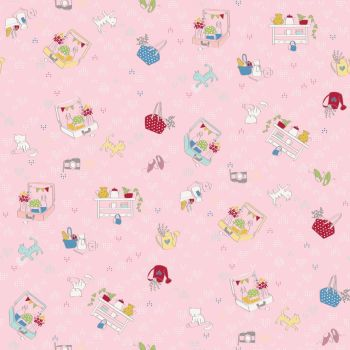 Riley Blake ~ Dear Diary ~ Daydream Pink