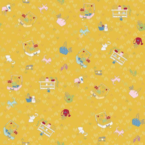 Riley Blake ~ Dear Diary ~ Daydream Yellow