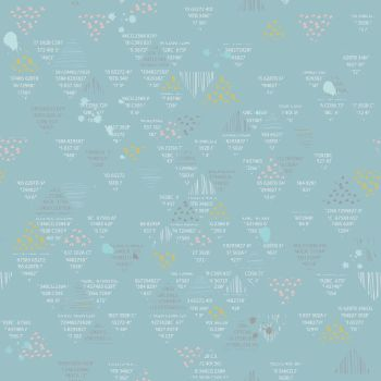 Riley Blake ~ Dear Diary ~ Doodle Blue