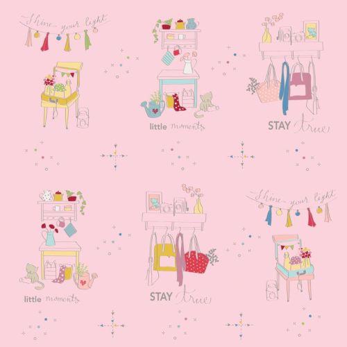 Riley Blake ~ Dear Diary ~ Main Pink