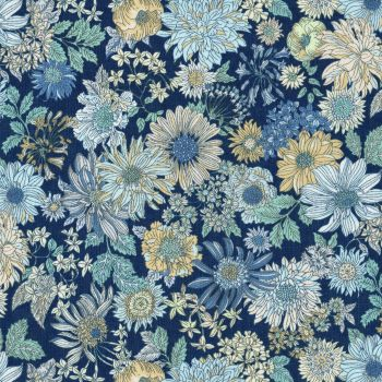 Lecien ~ Memoire A Paris ~ Large Floral Navy