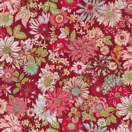 Lecien ~ Memoire A Paris ~ Large Floral Raspberry