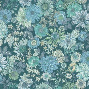 Lecien ~ Memoire A Paris ~ Large Floral Teal