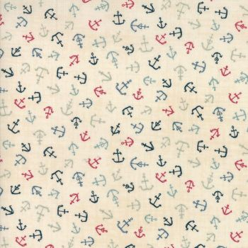 Moda Fabric ~ Ahoy Me Hearties ~ Anchors Multi