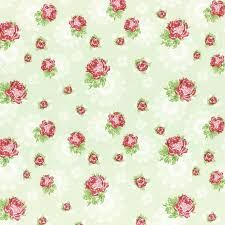 Lecien Fabric ~ High Tea ~ Doily Rose in Green Tea