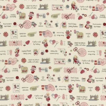 Lecien Fabric ~ Little Heroines ~ Notions Cream
