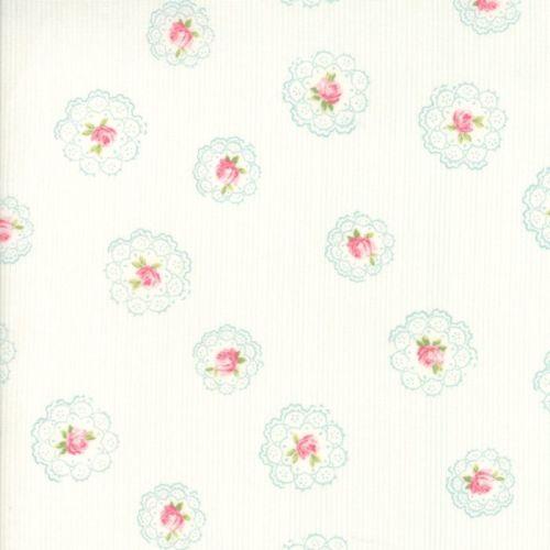Moda Fabric ~ Caroline ~ Daily Roses Linen White