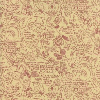 Moda Fabrics ~ Oak Grove Lane ~ Journal Script Cranberry