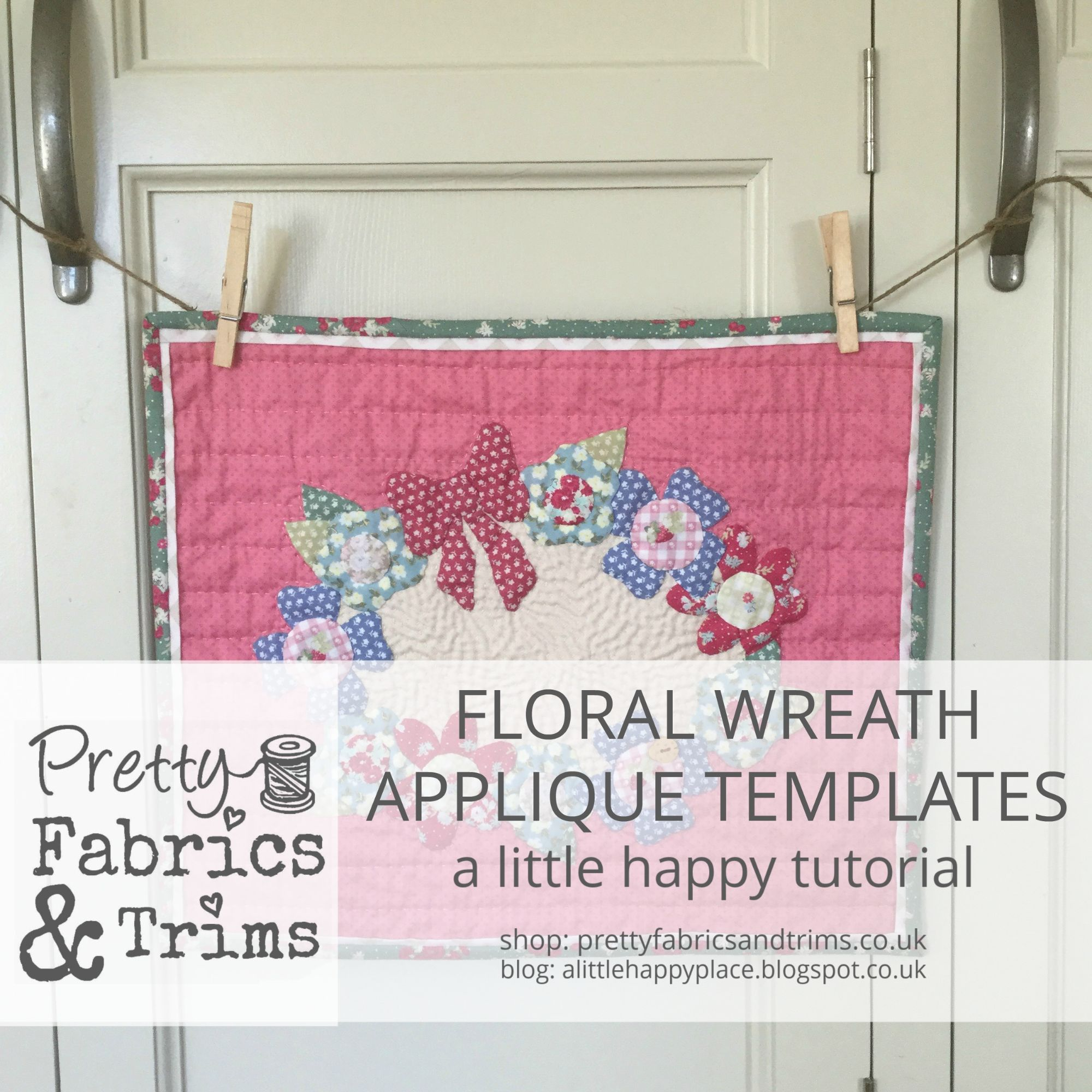 Floral Wreath Applique Templates