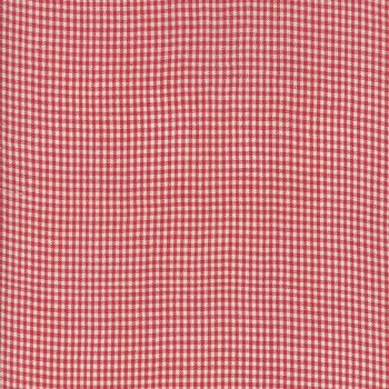 Moda Fabrics ~ Atelier De France Wovens ~ Small Gingham Rouge