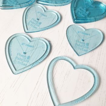 Acrylic Heart Applique Template