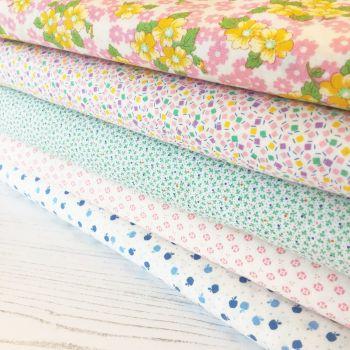 Penny Picks ~ 30's Reproduction Fabric Fat Quarter Bundle ~ Low Volume