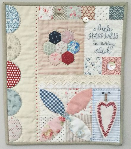 Sarah Edgar for Pretty Fabrics and Trims ~ Pattern ~ Happiness Mini Quilt