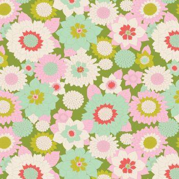 Tilda ~ LemonTree ~ Boogie Flower Green