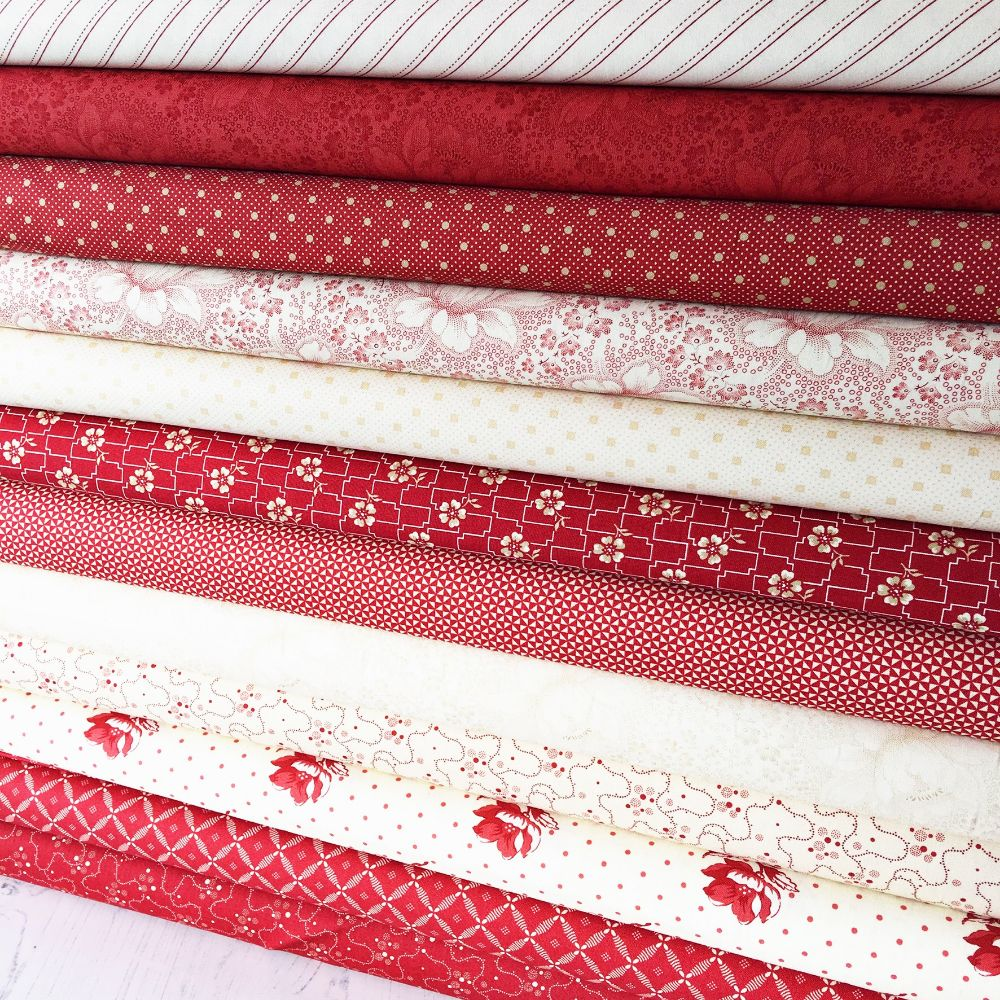 Moda Fabric ~ Farmhouse Reds