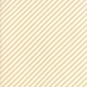 Moda Fabrics ~ Farmhouse Reds ~ Bias Stripe Red on Ivory