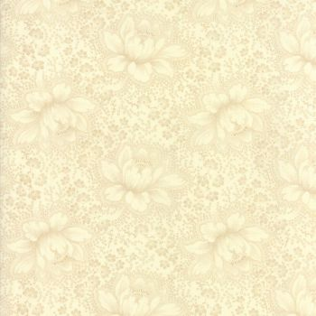 Moda Fabrics ~ Farmhouse Reds ~ Etched Floral Tonal Ivory