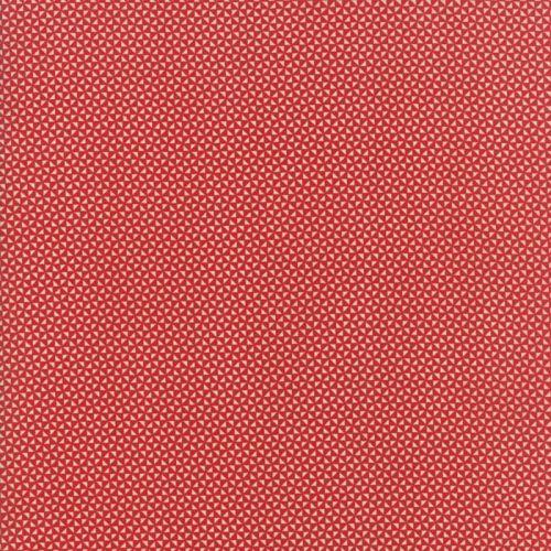 Moda Fabrics ~ Farmhouse Reds ~ Triangles Red on Ivory