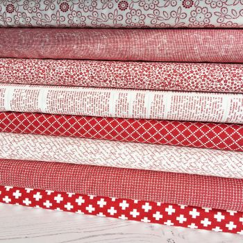 Moda Fabric ~ Fat Quarter Bundle ~ Project Red