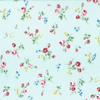 Lecien Fabric ~ Flower Fields ~ Posies Aqua