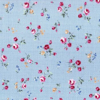 Lecien Fabric ~ Flower Fields ~ Posies Blue