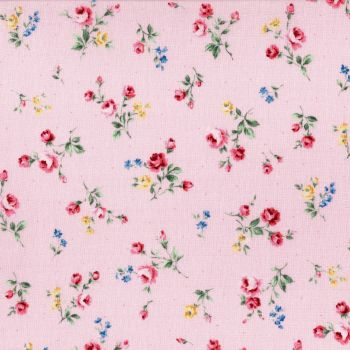 Lecien Fabric ~ Flower Fields ~ Posies Pink