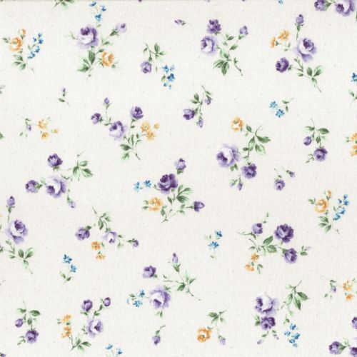 Lecien Fabric ~ Flower Fields ~ Posies White