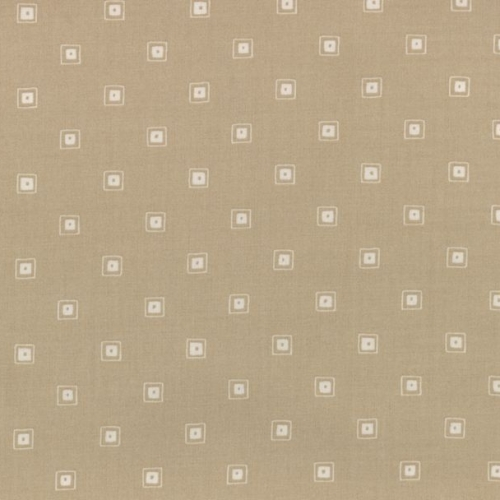 Lecien Fabric ~ L's Modern Basics ~ Squares Taupe