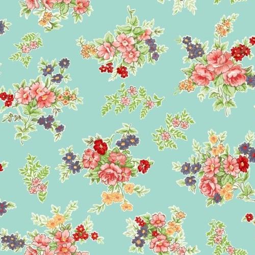 Makower ~ Katie Jane ~ Bouquet Turquoise