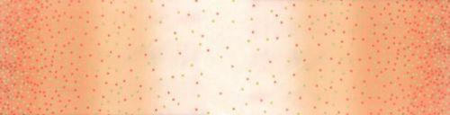 Moda Fabric ~ Ombre Metallic Confetti ~ Coral