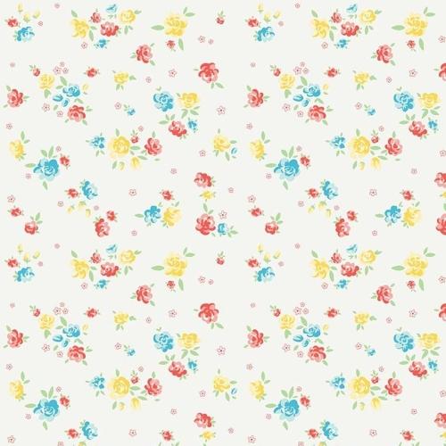 Penny Rose Fabrics ~ Bunnies & Blossoms ~ Blossoms Cream