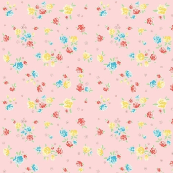 Penny Rose Fabrics ~ Bunnies & Blossoms ~ Blossoms Pink