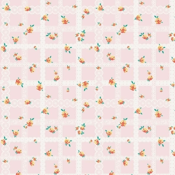 Penny Rose Fabrics ~ Bunnies & Blossoms ~ Lace Pink