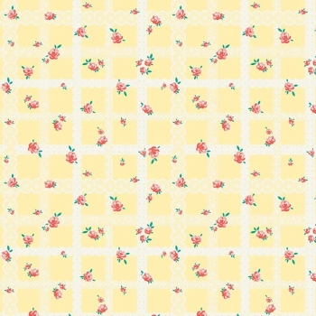 Penny Rose Fabrics ~ Bunnies & Blossoms ~ Lace Yellow