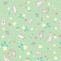Penny Rose Fabrics ~ Bunnies & Blossoms ~ Main Mint
