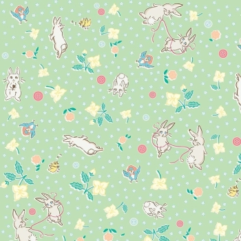 Penny Rose Fabrics ~ Bunnies & Blossoms ~ Main Mint