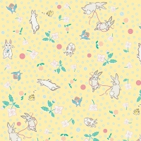 Penny Rose Fabrics ~ Bunnies & Blossoms ~ Main Yellow