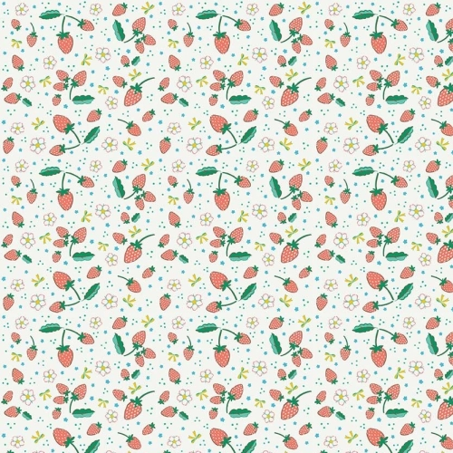 Penny Rose Fabrics ~ Bunnies & Blossoms ~ Strawberries Cream