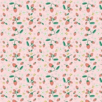 Penny Rose Fabrics ~ Bunnies & Blossoms ~ Strawberries Pink