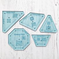 'Make it' Sarah's Queens Walk Quilt 5 Piece Acrylic Template Set