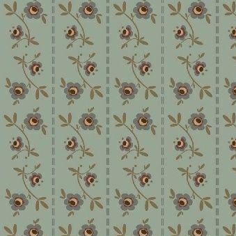 Windham Fabrics ~ Pauline ~ Floral Stripe Blue