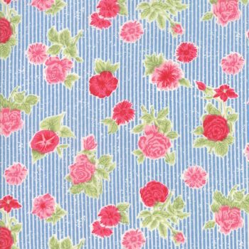 Moda Fabric ~ Cottontail Cottage ~ Cottage Floral Bluebell