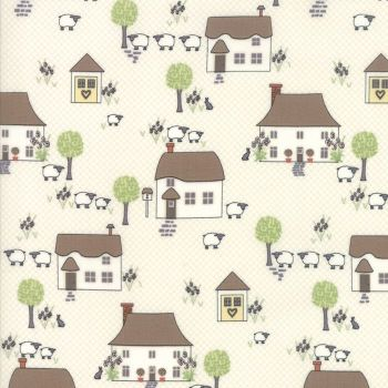 Moda Fabric ~ Cottontail Cottage ~ Houses Cottontail White