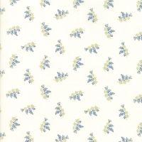 Moda Fabrics ~ Victoria ~ Charlotte Blue on Ivory