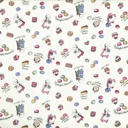 Lecien Fabric ~ Little Heroines ~ Sweet Treats Cream