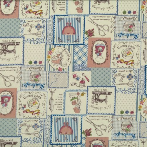 Lecien Fabric ~ Little Heroines ~ Craft Room Patchwork Blue