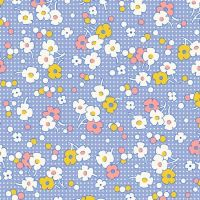 Henry Glass & Co ~ Nana Mae ~ Floral Dot Blue